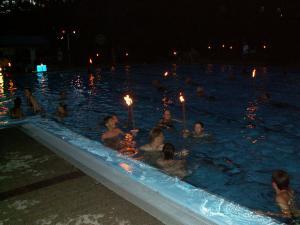 Spiel und Spassnachmittag / Fackelschwimmen 2014
